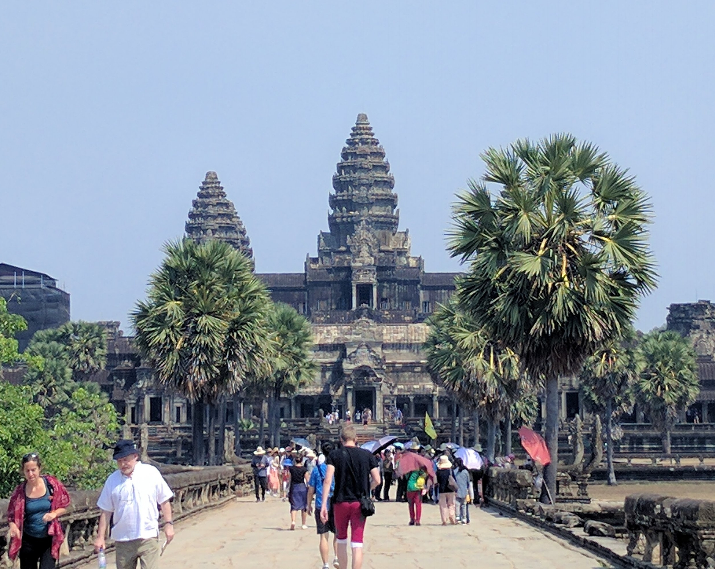 The view of Angkor Wat....once you get through the fascinating outer gate. There were always a ton of people there!