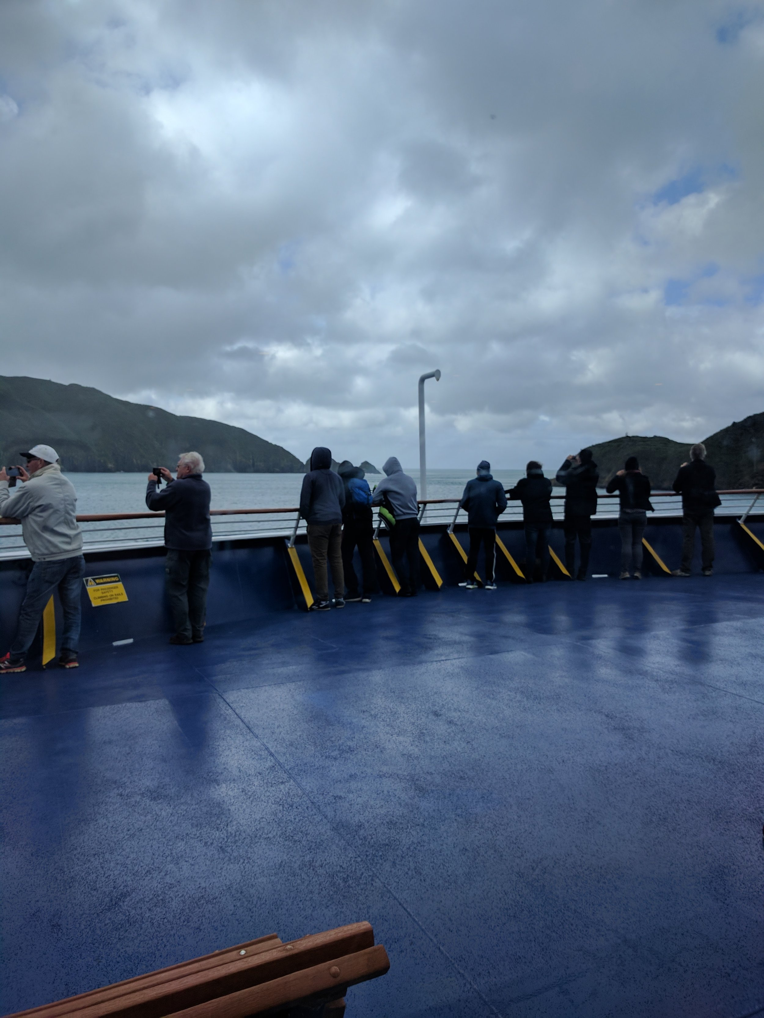 Bow of the ferry- on to Wellington!