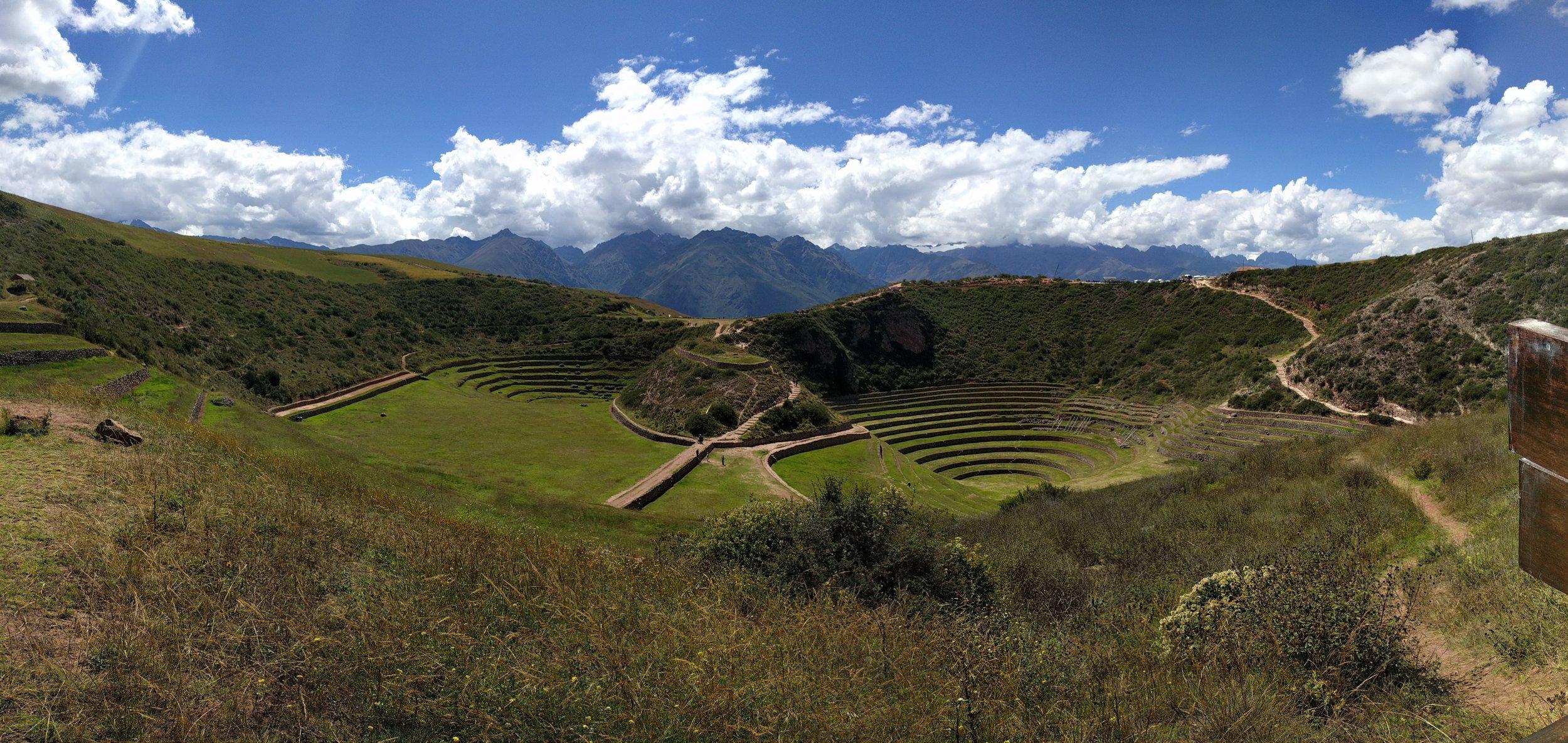 View of the Incan ruins at Moray