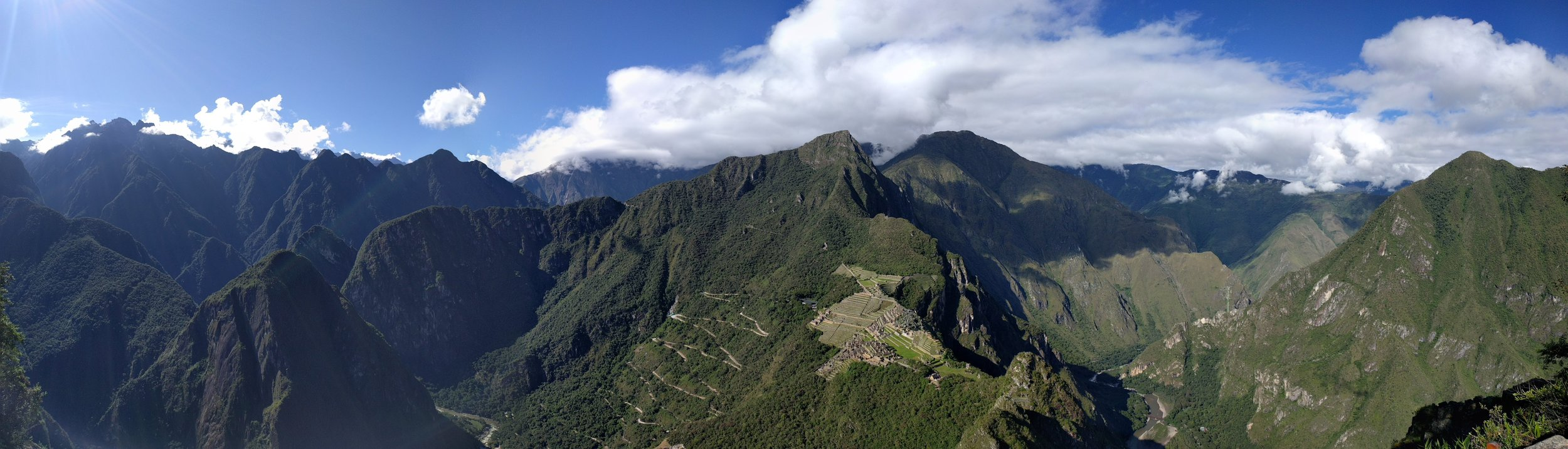 View from the top of Wayna Picchu