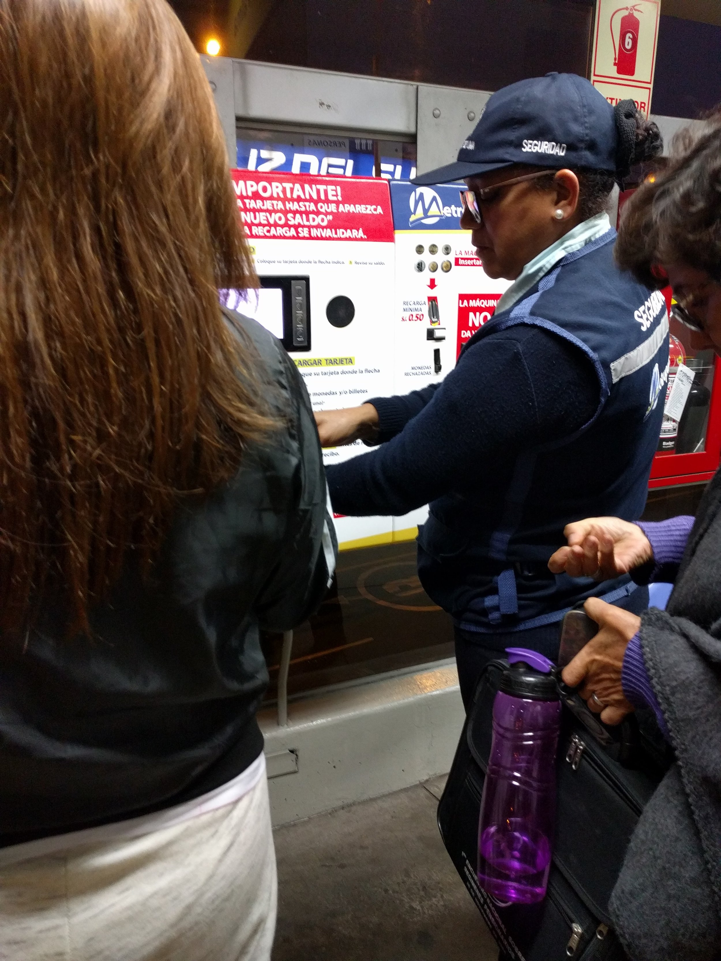 Confusion at the machine to top-up bus cards...