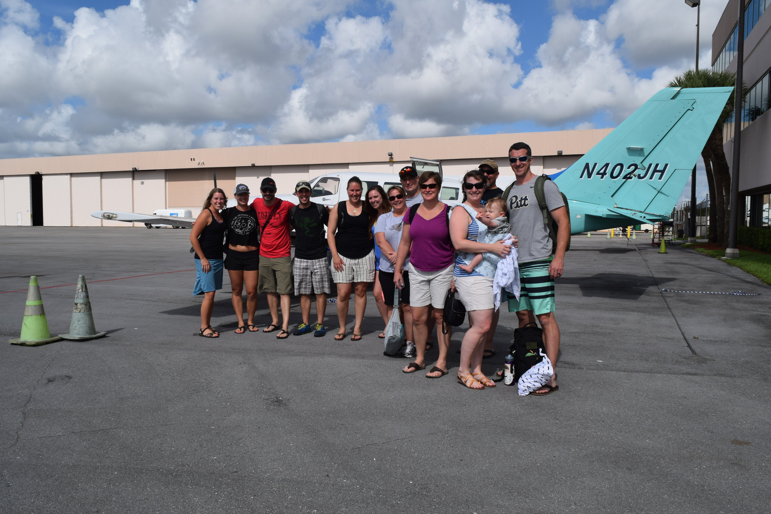 Good looking group! We flew from point A to B on the map below: