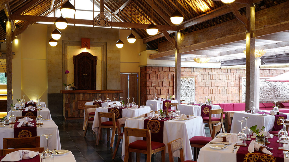 Udaya Resort Dining Room Ubud Bali