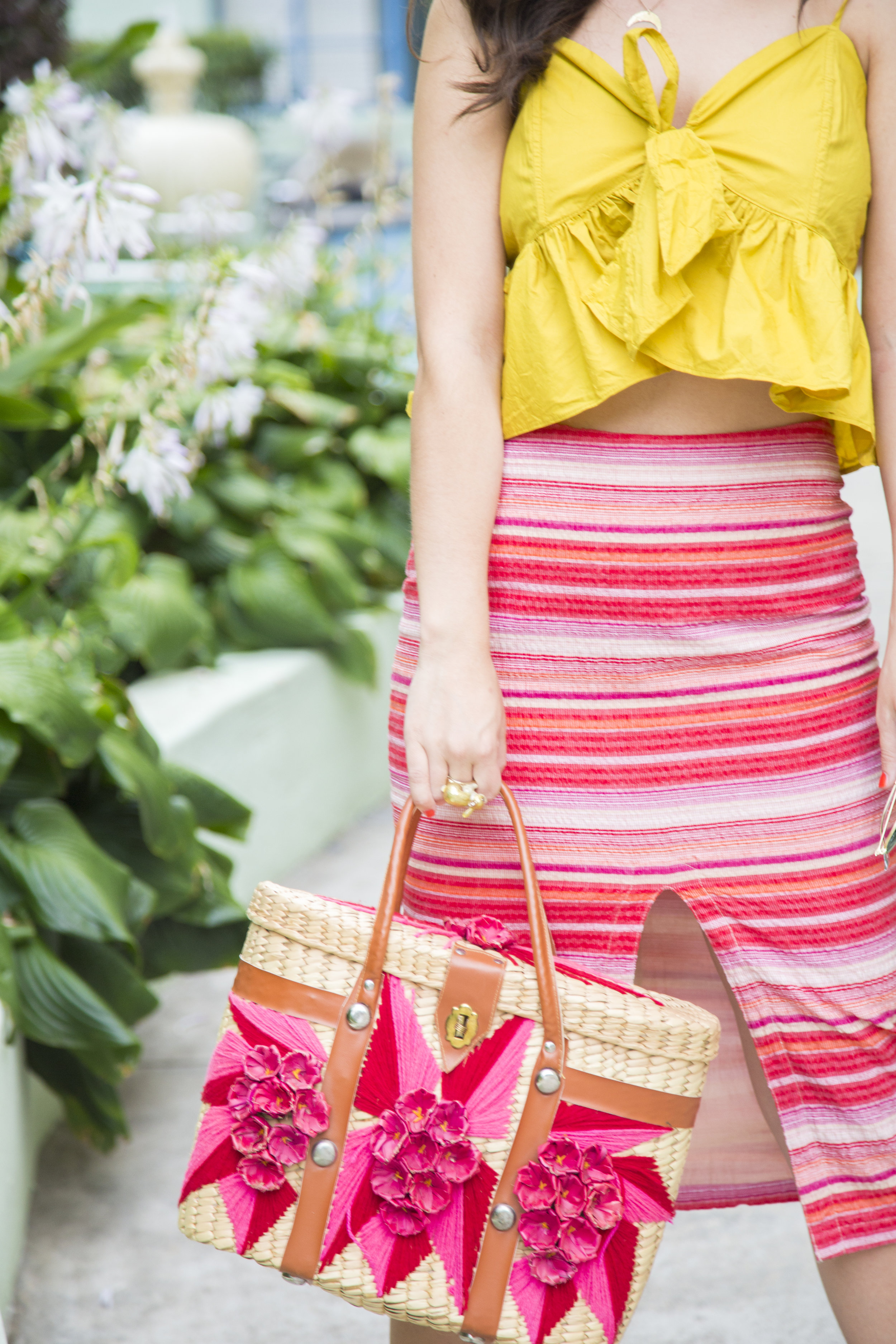 Yellow Top & Striped Skirt 3