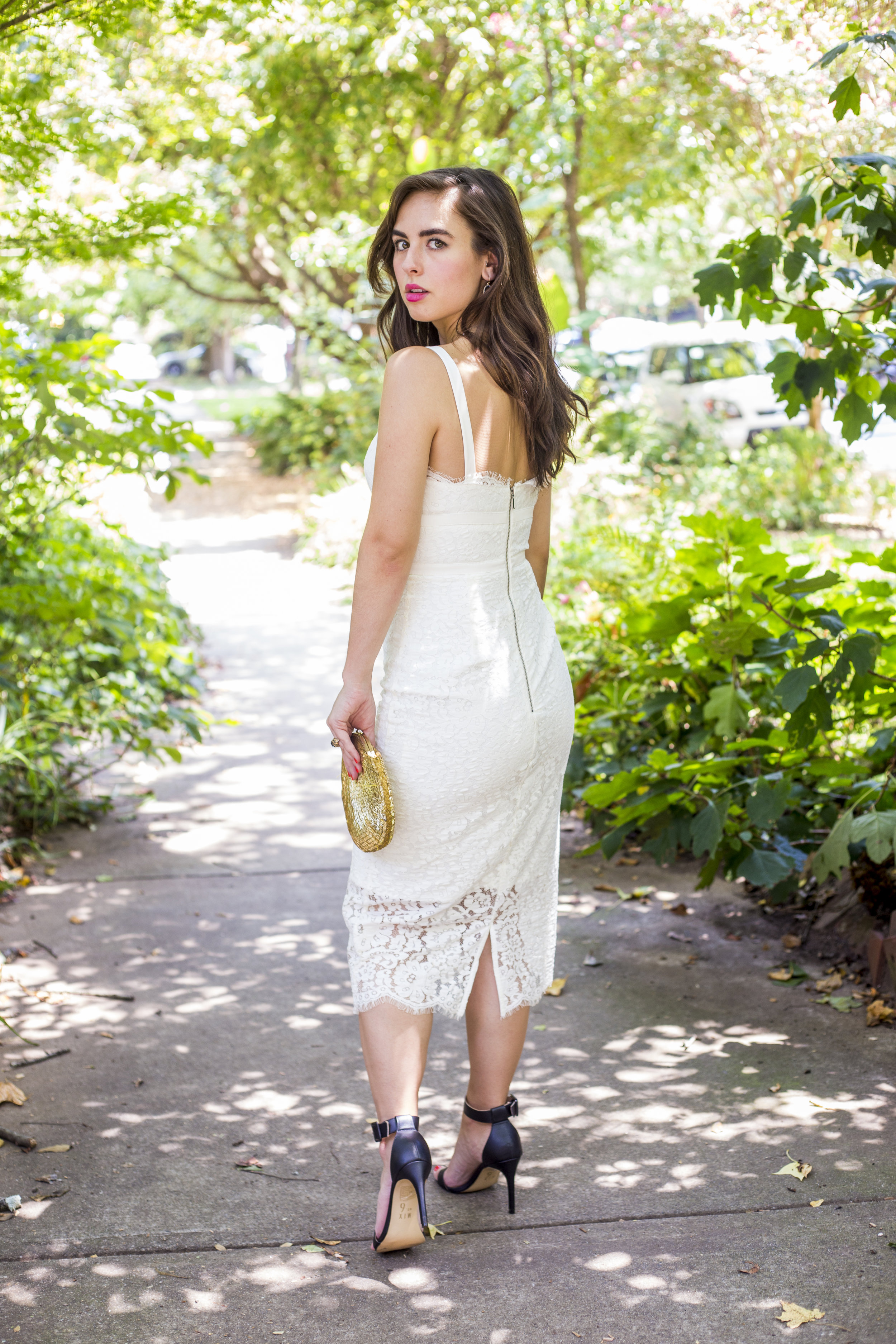 Dress:  Urban Outfitters;  Clutch:  vintage;  Shoes:  Mix No. 6