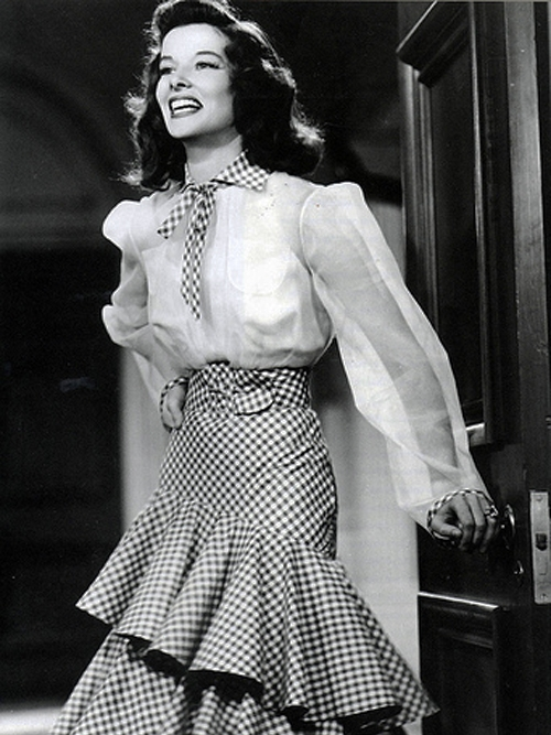 Katharine Hepburn as Tracy Lord in  The Philadelphia Story.