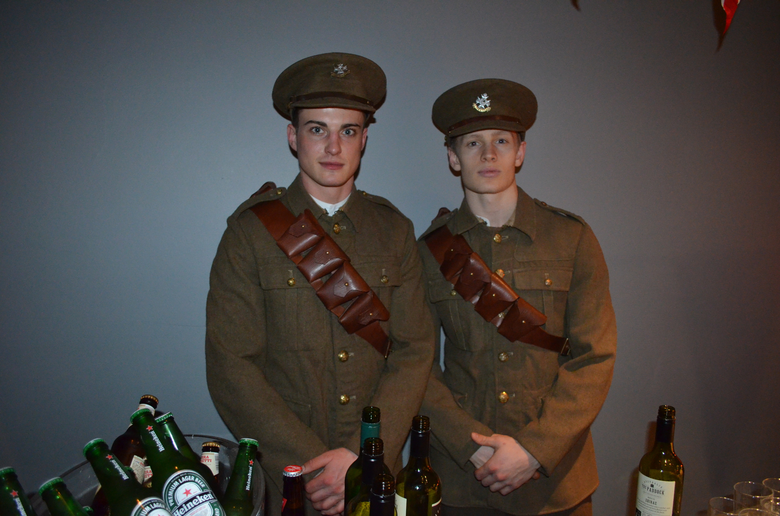 The World War Two theme continued throughout the night.