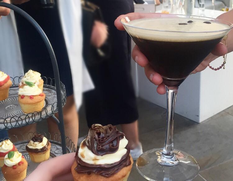 Espresso Martini and cupcake