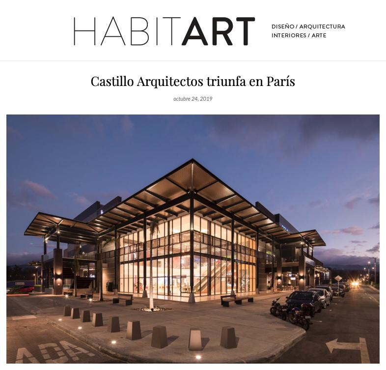 Artículo acerca de Castillo Arquitectos publicado en  Revista Habitart.