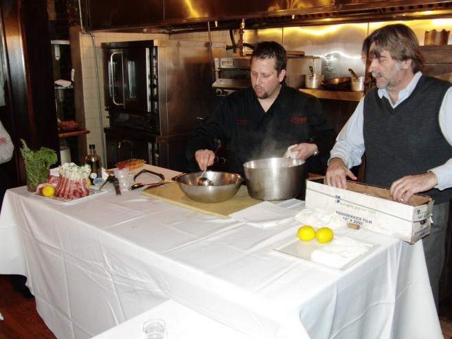Mark and José at a Cooking Demonstration