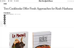 Le Marais in NY Times