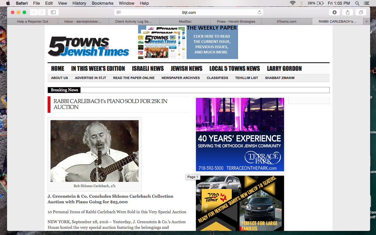 Jonathan Greenstein feature in 5Towns Jewish Times