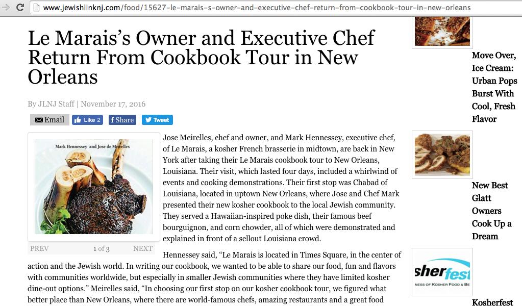 Jewish Link of NJ Features Le Marais Tour to NOLA