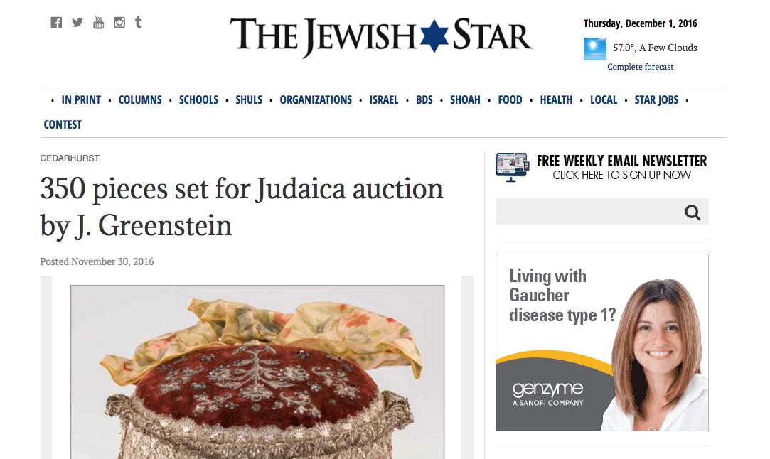 J. Greenstein's feature in The Jewish Star