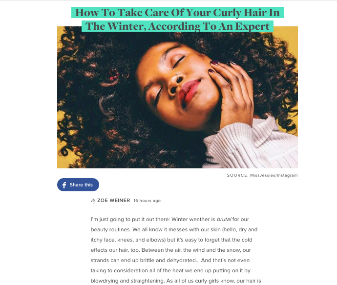 Miko Branch feature in Bustle