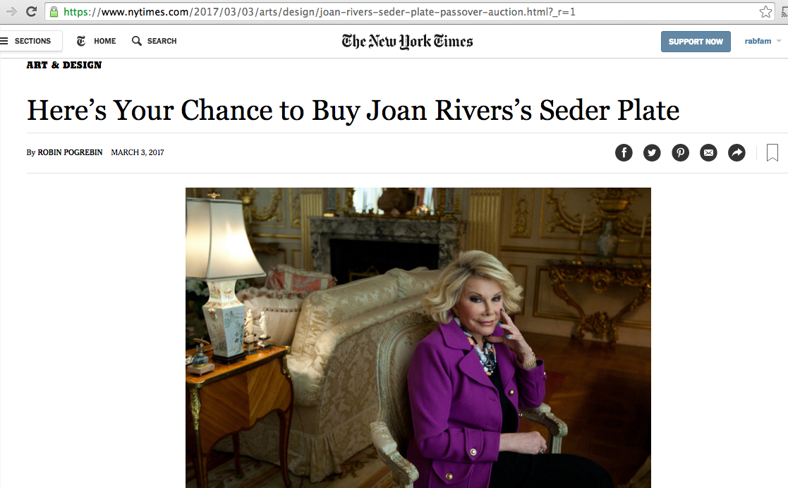 Jonathan Greenstein feature in NYTimes