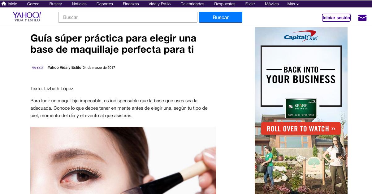 Shara Strand feature in Yahoo en Español