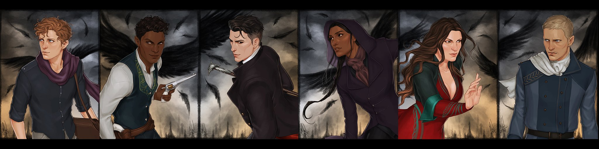 Wonderful artwork of the Crows by @merwild