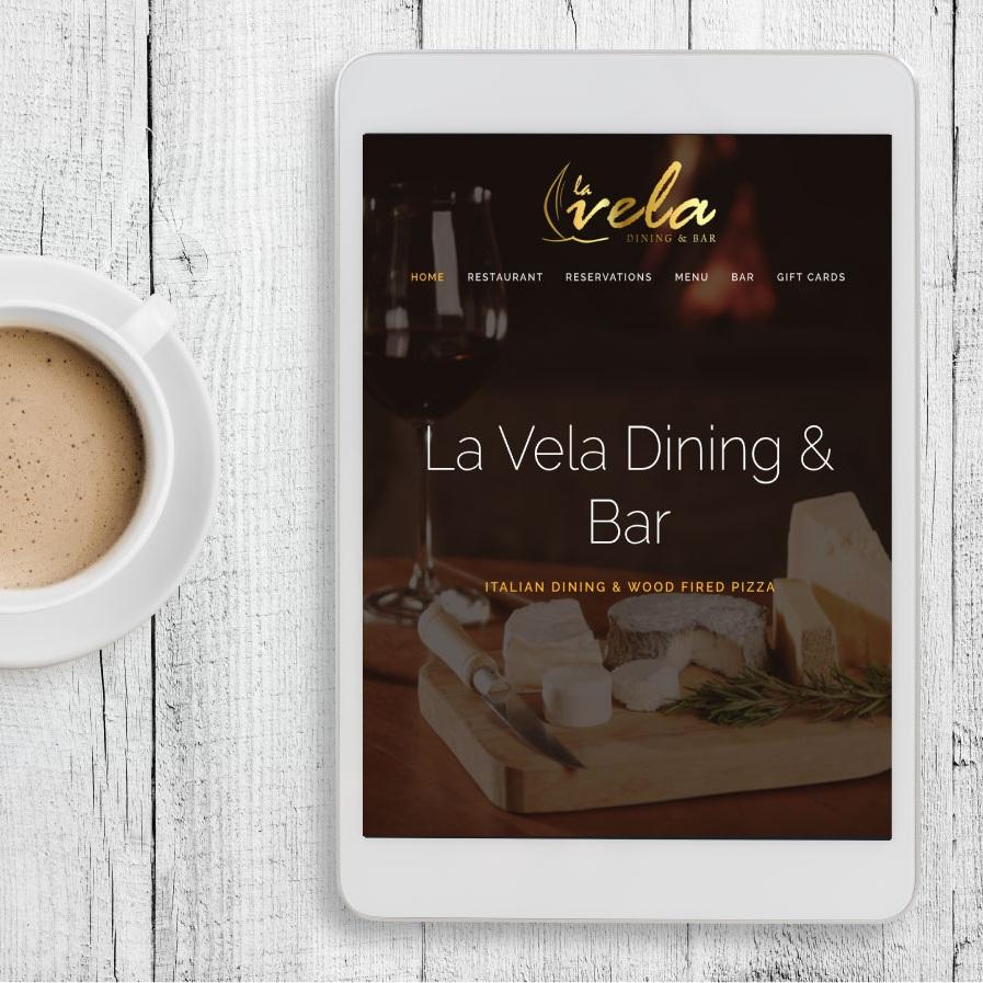 LA VELA DINING & BAR IDENTITY   WEB DESIGN   PRINT DESIGN