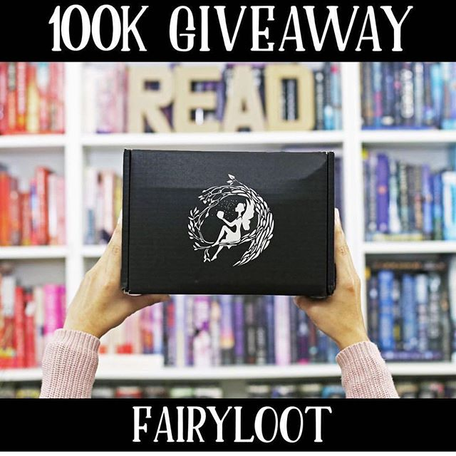 Giveaway repost! Check it out over @fairyloot 🖤💜 #fairyloot100k