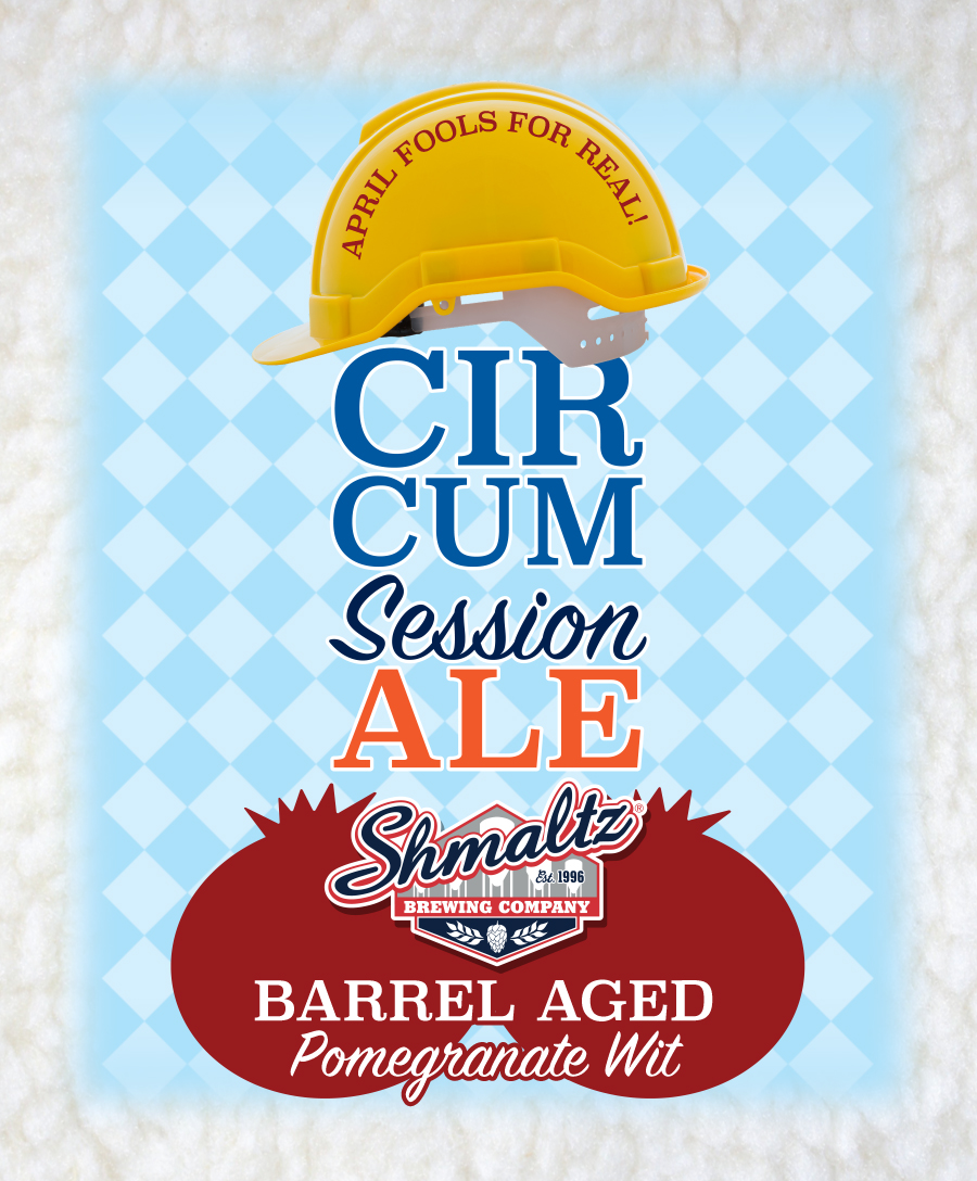 """Come in and enjoy an amazing selection of beers from Schmaltz Brewing!  Proud to debut """"Circum Session Barrel Aged Pomegranate Wit"""" which we will tap at 4pm! $8 for April Fools Day, then back to $11.89 after that!   He'Brew Tap Invasion!   """"Just 'cause it's in bad taste doesn't mean it won't taste great!""""   Circum'Session Ale   Barrel Aged Tart Pomegranate Wit   Shmaltz Brewery – Clifton Park, NY  5.5%  •  11.89 12oz    He'Brew Jewbelation Nineteen   American Strong Ale   Shmaltz Brewery – Clifton Park, NY  11.9%  •  7.8912oz    Hop Momma IPA   Brewed with peach, apricot and habanero   Shmaltz Brewery – Clifton Park, NY  5.8%  •  6.8912oz    Hop Mania Imperial IPA   Even more Hop Manna dry hopped with Centennial, Cascade and Citra hops   Shmaltz Brewery – Clifton Park, NY  5.8%  •  7.8912oz    Bittersweet Lennys R.I.P.A on Rye   Rye Whiskey Barrel Aged Imperial IPA   Shmaltz Brewery – Clifton Park, NY  10%  •  8.5912oz    http://www.shmaltzbrewing.com/"""