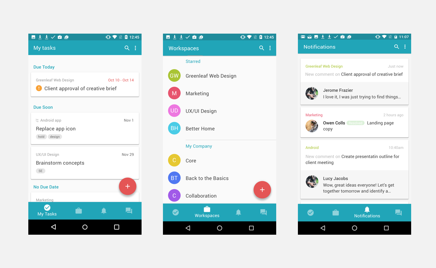 New version with bottom navigation and material design implemented