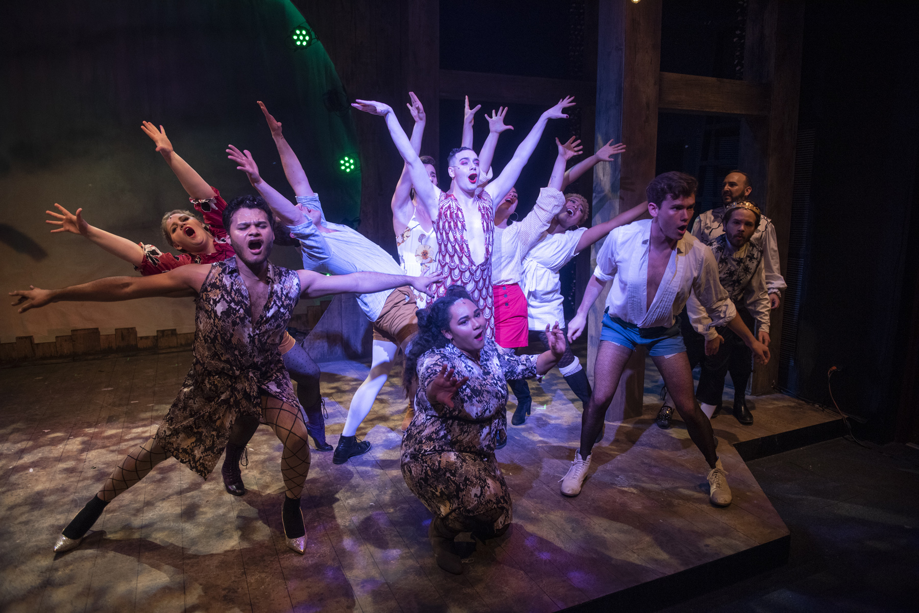Pythio (Parker Guidry) and the Ensemble of Head Over Heels
