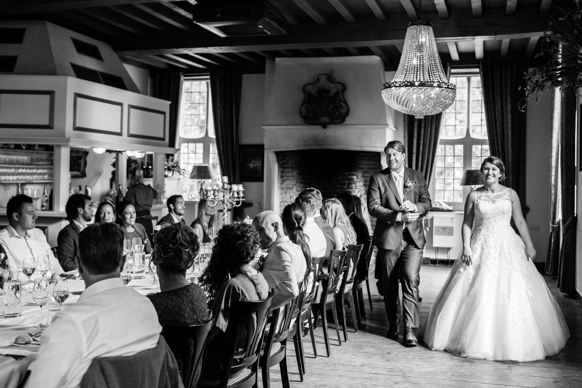 diner kasteel wijenburg bruidspaar