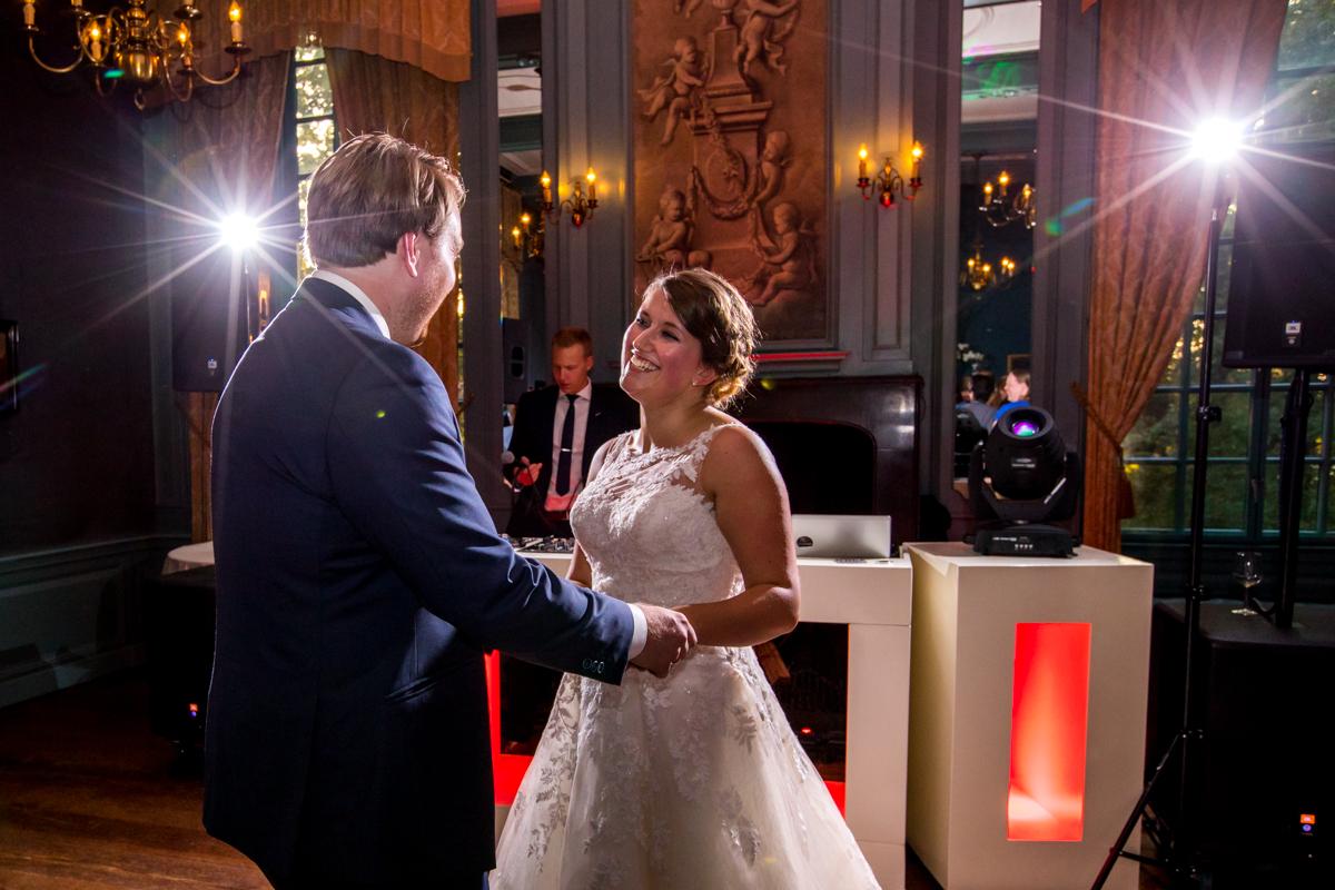 openingsdans bruidspaar kasteelbruiloft