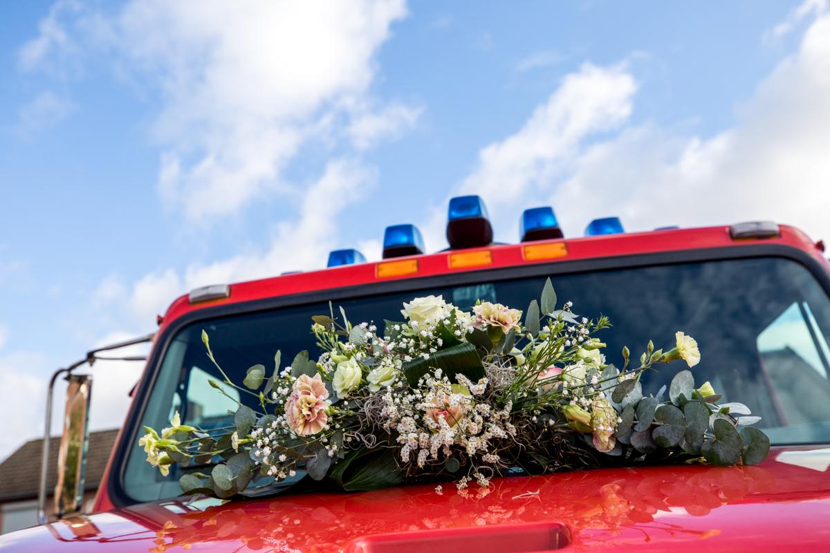 trouwauto brandweerwagen