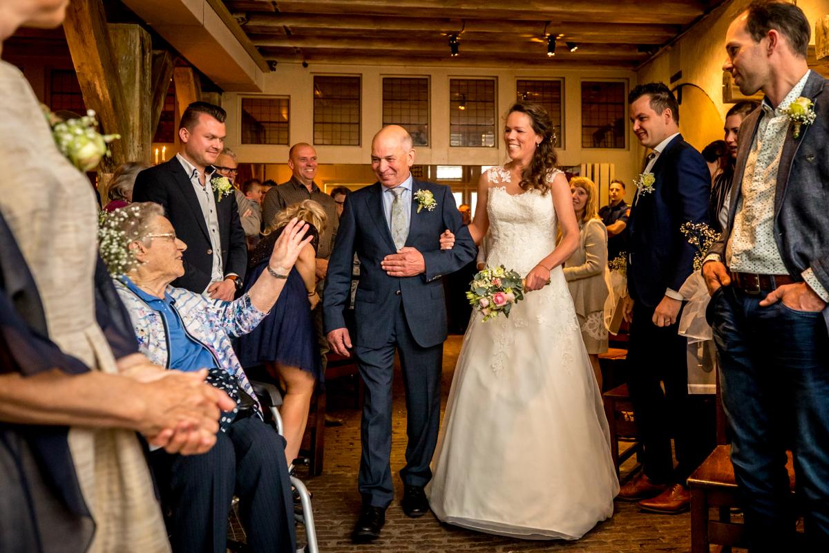 bruid trouwceremonie