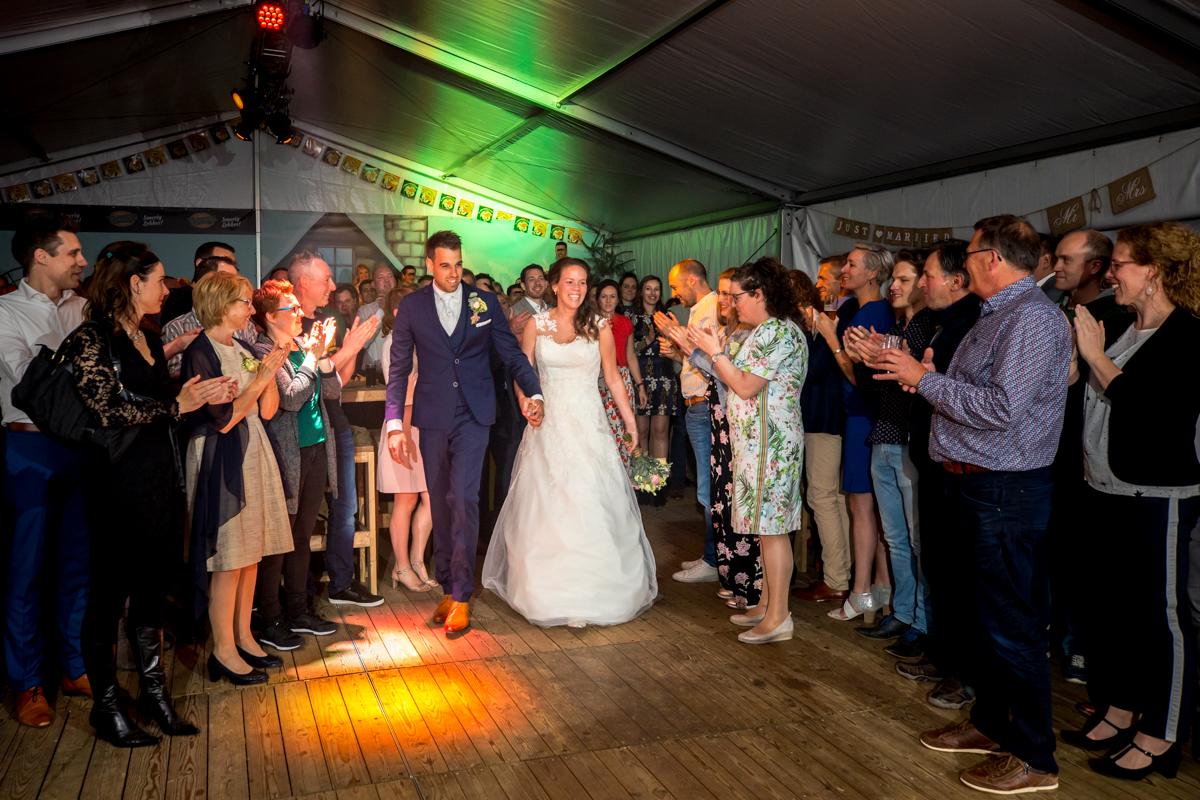 trouwfeest bruidspaar
