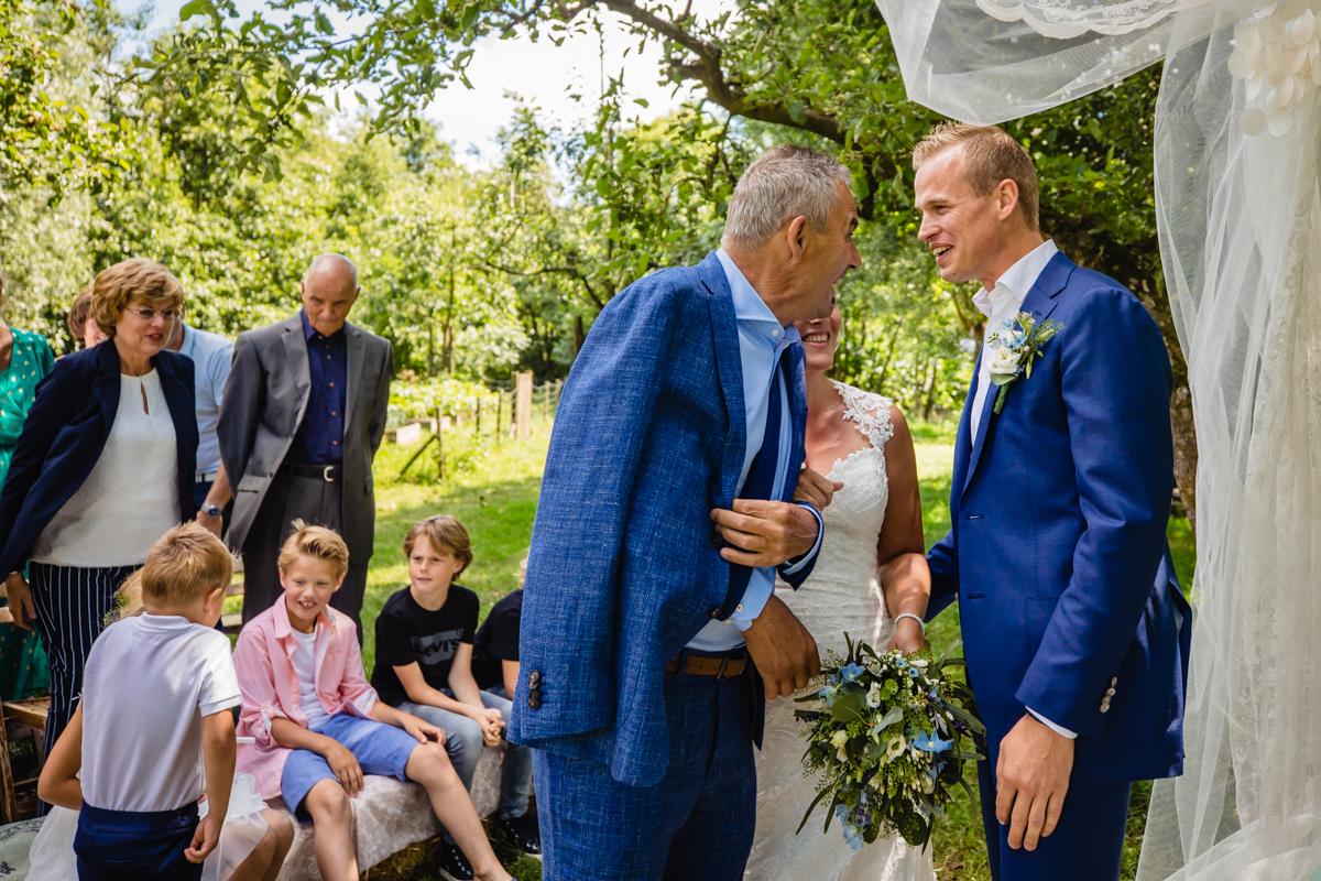 weggeefmoment vader van de bruid