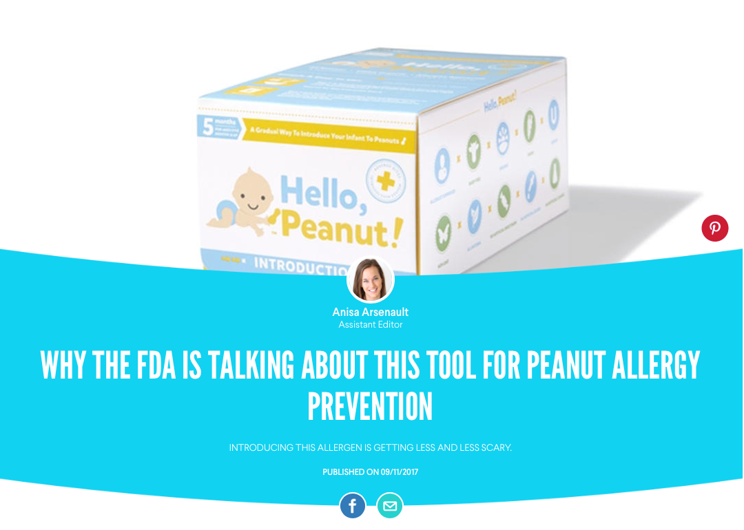 Hello, Peanut! The solution for early peanut introduction