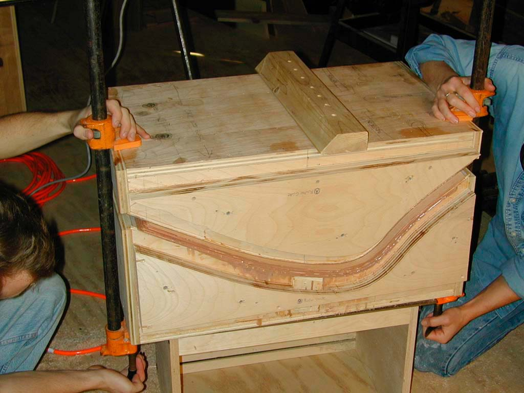 7. The mold doubles as a router guide for trimming the long edges