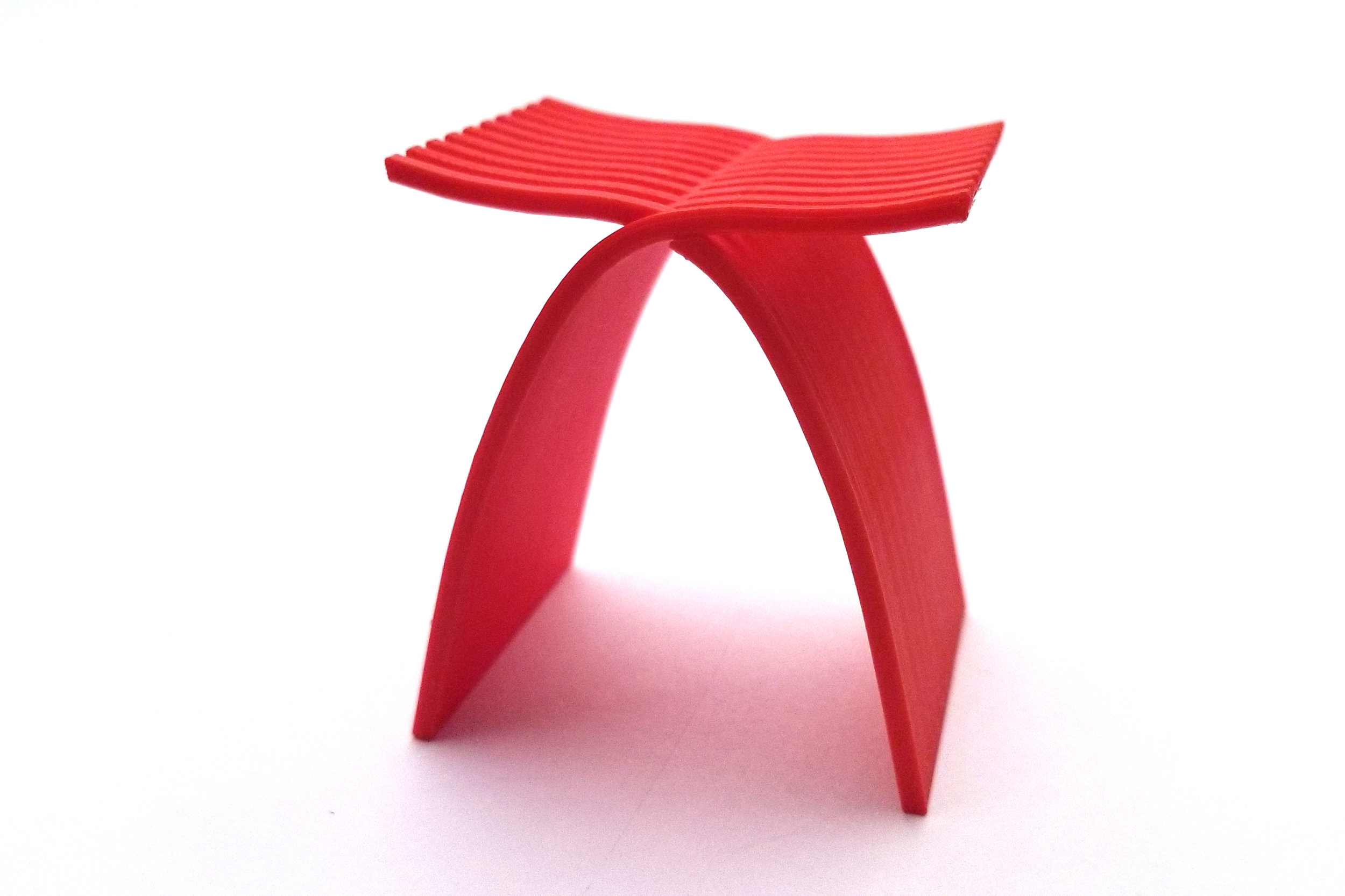With 3D printing, we could have tested the weight bearing properties of the stool much earlier.