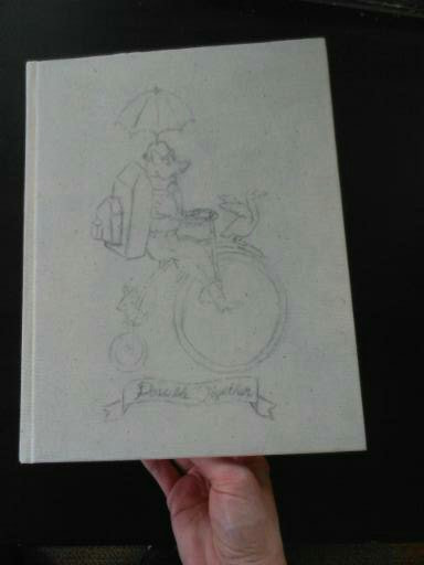 Sketchbook Cover-Fox-Penny-Farthing-Melicious1900