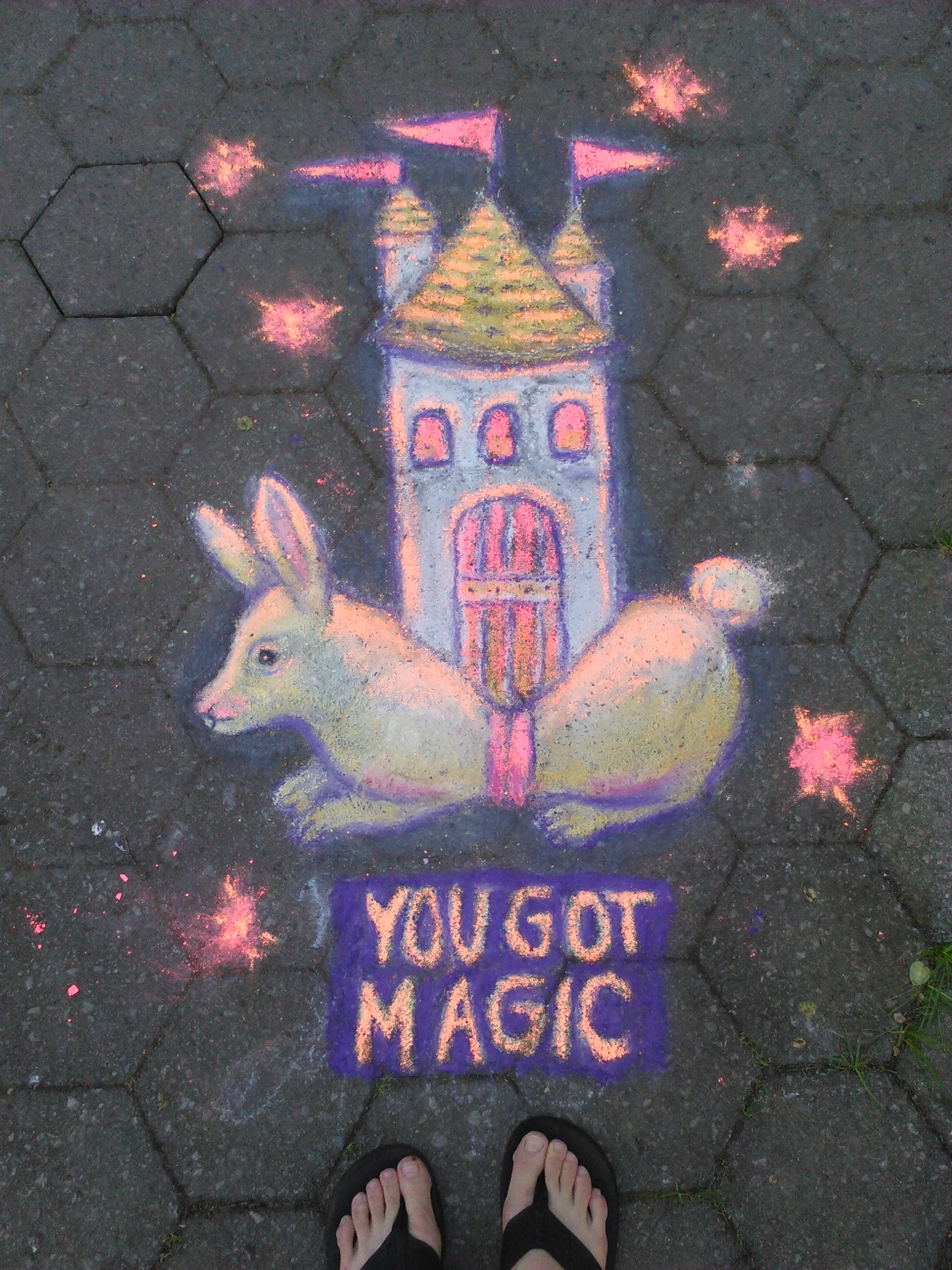 My magical sidewalk chalk drawing.
