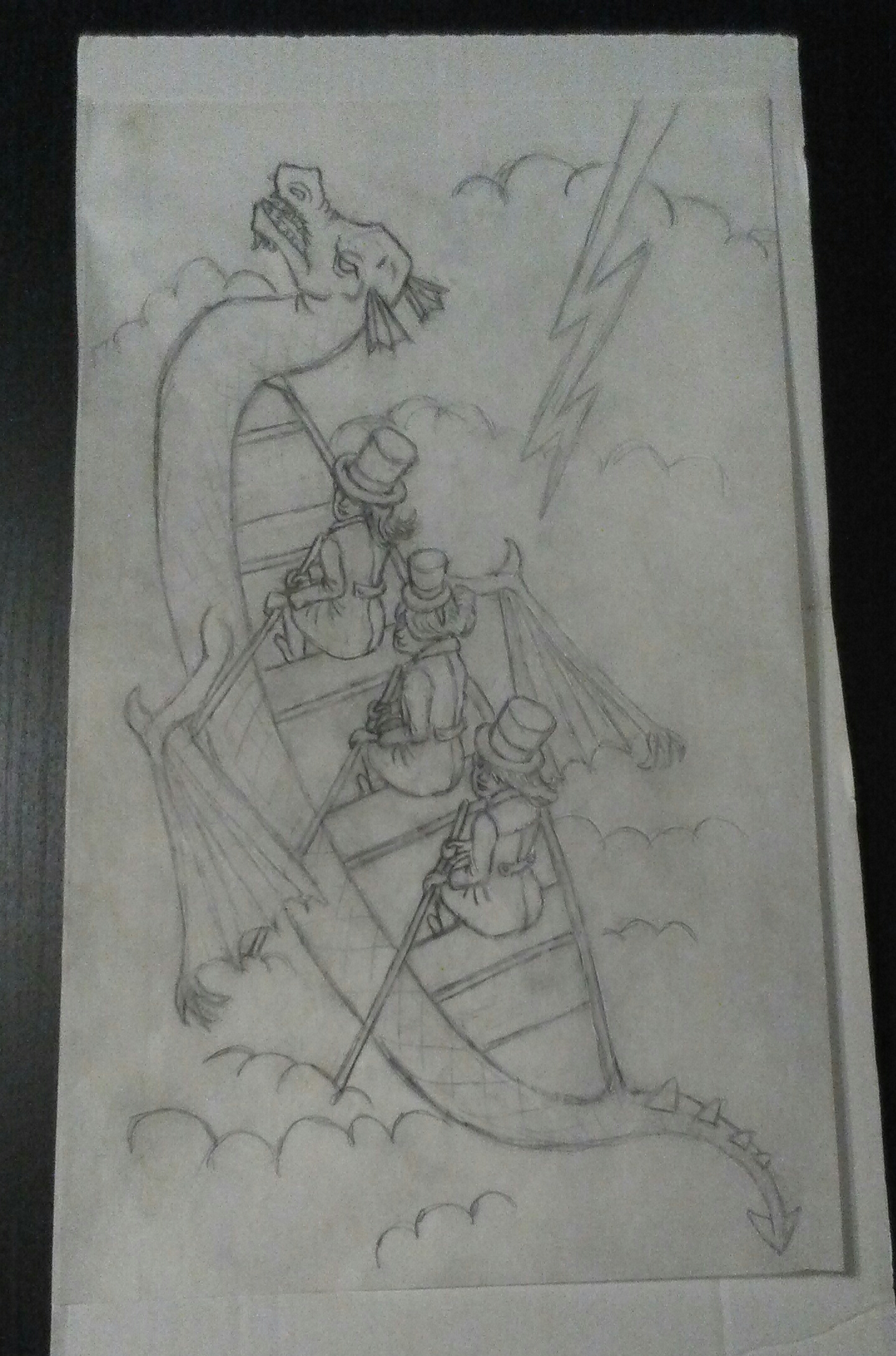 My dragon boat sketch with some bad-ass women to rise with it.