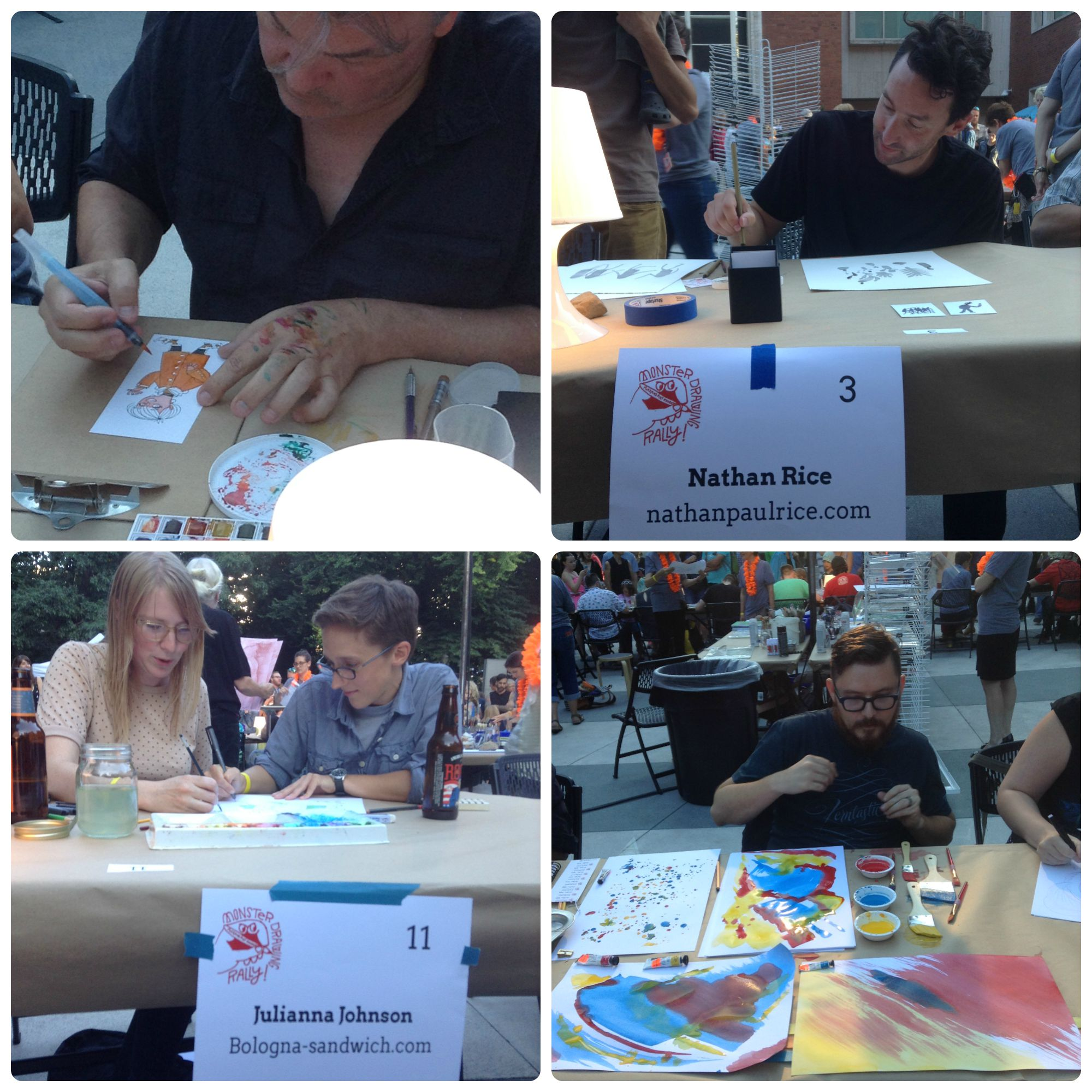 Monster Drawing Rally at Portland Art Museum 2015