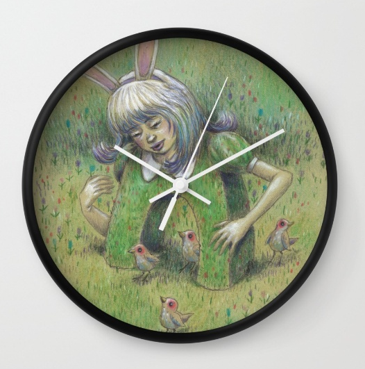 3) Magical Bunny Girl Clock (Gimme, gimme! Click on the image to get it.)