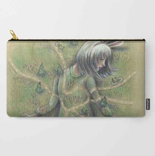 5) Magical Bunny Girl Pouch---for pens and stamps or lipstick too.(Gimme, gimme! Click on the image to get it.)
