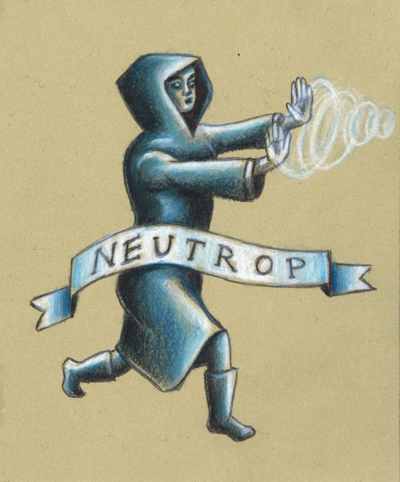 Neutrop is part of the Secret Language of  The Secret Society of Magical Creatures .  It means to neutralize or stop a bad spell.