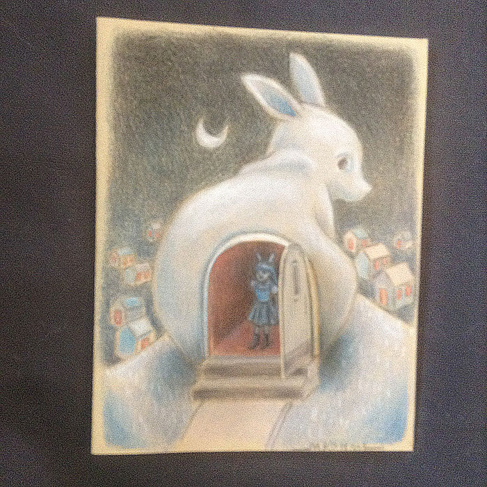 The Ghost Bunny Home with the door open to reveal a bunny girl inside.