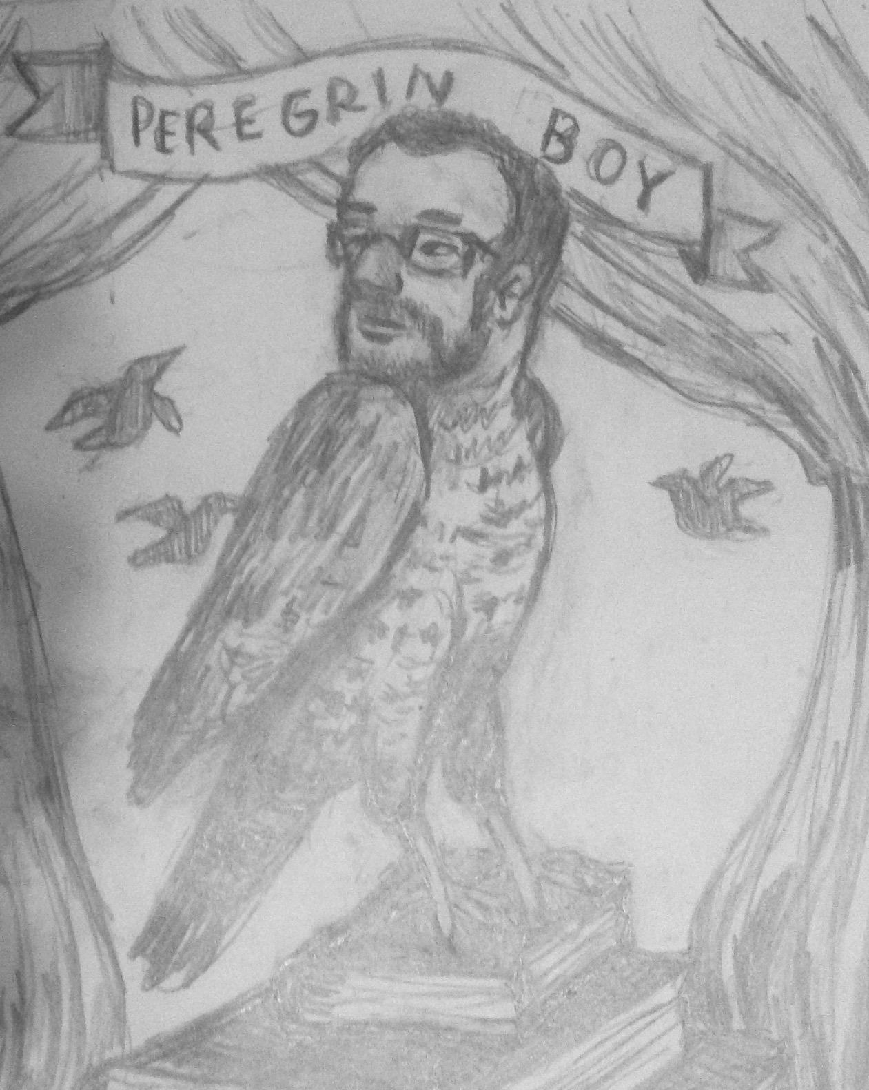 Sketch of the peregrine boy  custom magical creature .