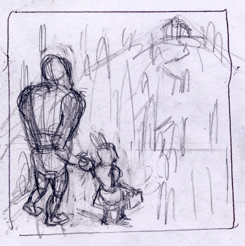 A quick sketch for the Sasquatch painting.