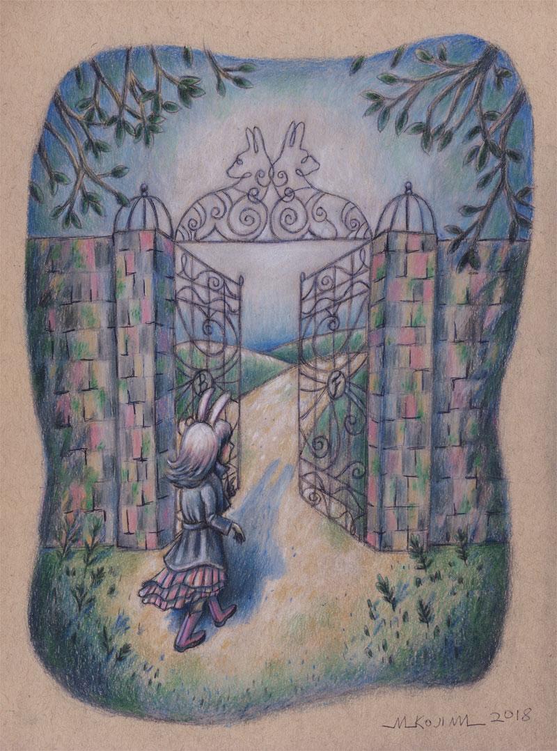 "Final drawing fo ""Bunny Trespassing"".."