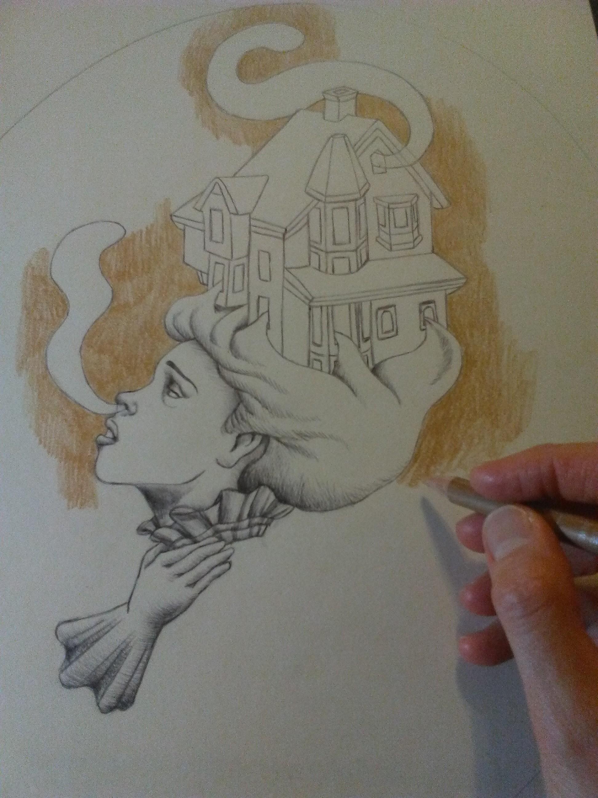 WIP Haunted House Lady Drawing 2.jpg