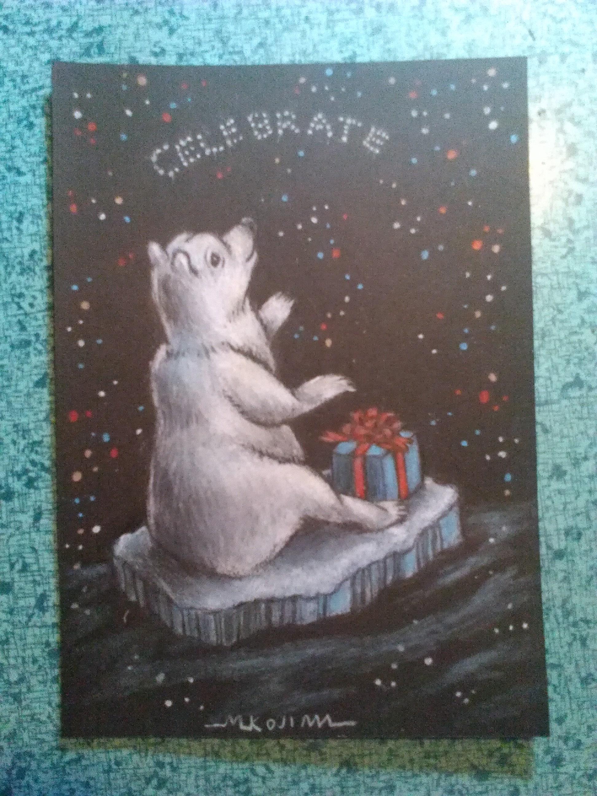 """""""Celebrate Magic"""" homemade Card for a friend."""