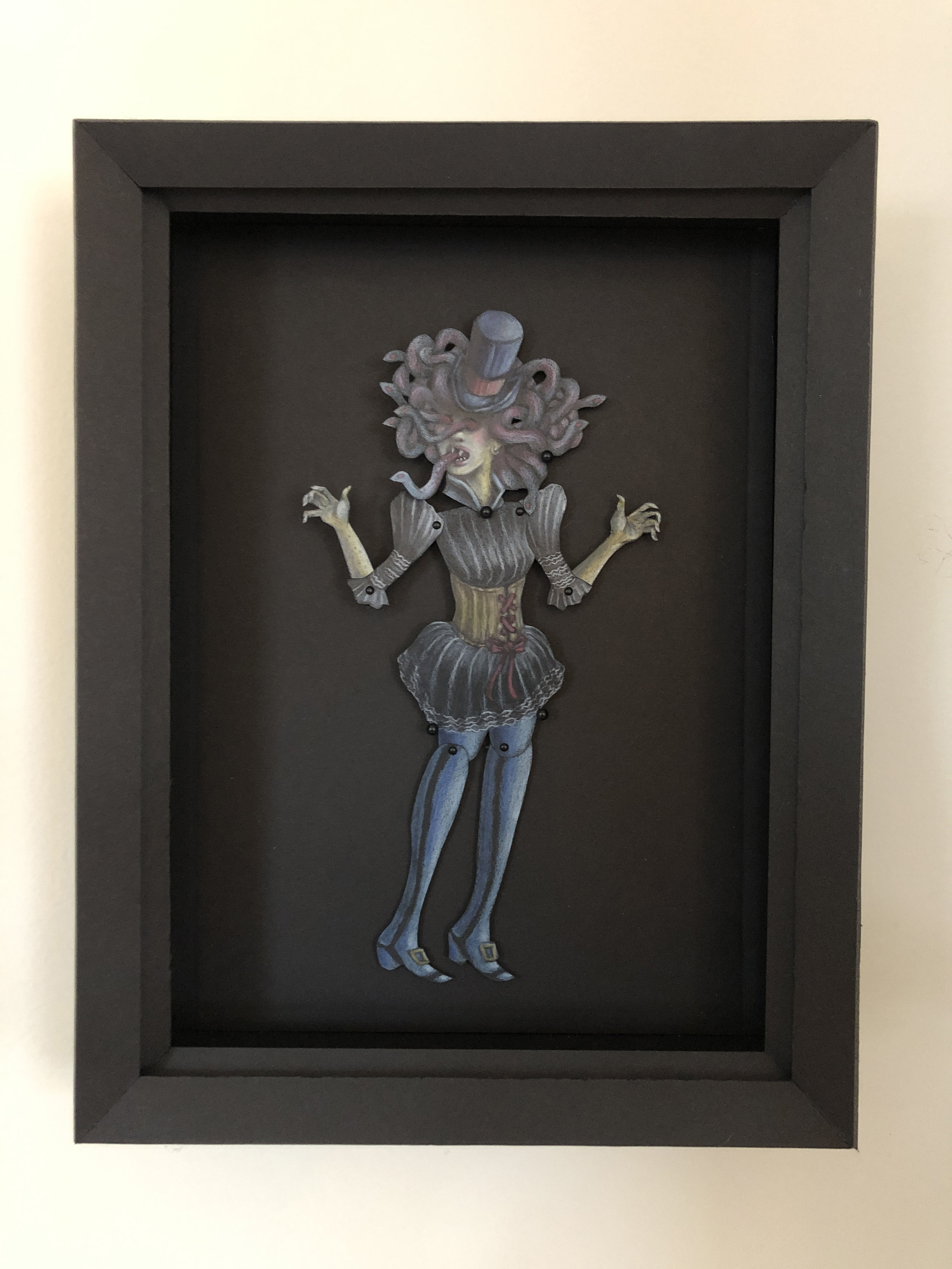 Lady Medusa Freak Show Paper Puppet.